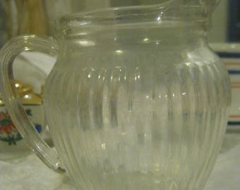 Vintage Glass Pitcher Small Pressed Glass Dolls and Play House Display Breakfast Juice Milk Dolls Dinner Table Creamer