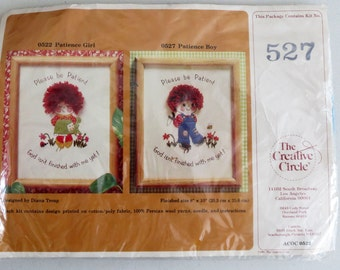 Crewel Embroidery, Little Boy Stitch Kit, Creative Circle, 527, Embroidery Kit, God Isn't Finished With Me, Quote Embroidery
