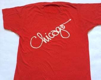 Vintage Chicago Red Cursive Tee