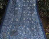 Blue and white kantha Kantha ,Sari throw, Sari Blanket, Kantha Blanket,  Kantha Throw, Indian Quilt, Coverlet, Ralli Quilt,Kantha