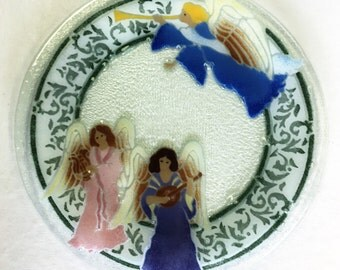 Peggy Karr Glass Serving Angel Platter