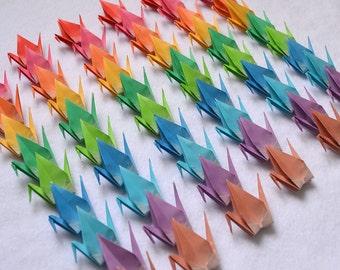 Origami Cranes - 90 Rainbow Origami Paper Fantasy Color Cranes