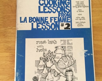 """French Recipes   Cookbook   1970's """"French Cooking Lessons"""" from La Bonne Femme Lesson #2"""