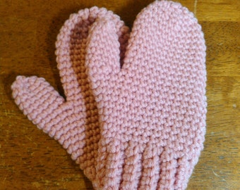 Pink Toddler/Preschool Mittens - Ready to Ship