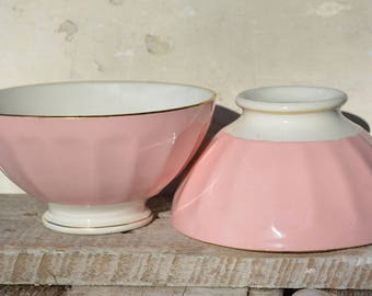 Vintage French Cafe bowls, French Provincial Cafe Au lait bowls, Farmhouse decor, Vintage Soup bowls, Vintage Photo Props
