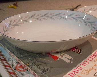 Vintage Oval Vegetable Bowl ~  MODAR Japan Fine China Dinnerware Mid Century Modern 7243