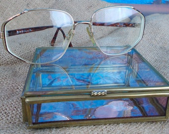 Vintage 80's Christian Dior Prescription Eyeglasses OPTYL, Gold Tone Frames, Tortoise Shell Arms, Frames Made in Austria