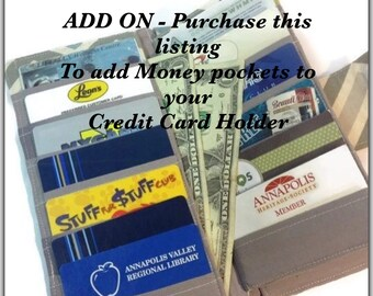 Add On - Money Pockets, Credit Card Holder, Money Wallet