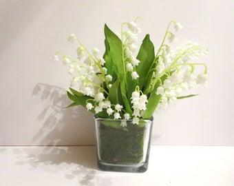 Lily of the valley  arrangement -Anniversary  Gift -Mother's day gifts arrangement