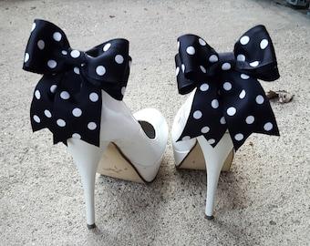 Polka Dot Shoe Clips,Wedding Shoe Clip, Bridal Shoe Clips, Womens Shoes Clips, Shoe Clips for wedding Shoes, MANY COLORS, Polka dots