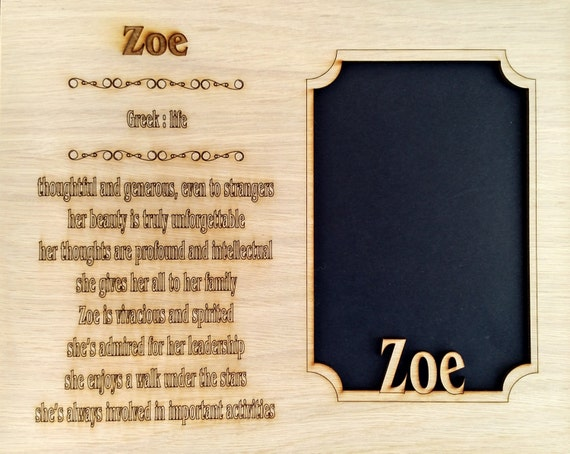 Name Meaning Mat Insert For 8x10 Frame Holds 5x7 Photo