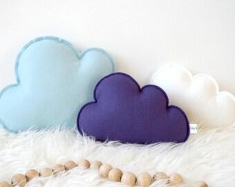 Cloud pillows, Set of three, Cloud Nursery Decor, Blue Nursery Decor, baby gift, baby shower gift