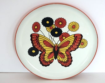 Round Mod Plastic Butterfly Tray