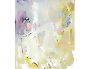 Large Original Abstract Art pretty vancouver artist melissa thorpe canadian office purple lilac yellow painting