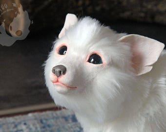 PREORDER: white Kitsune / Hulijing pup
