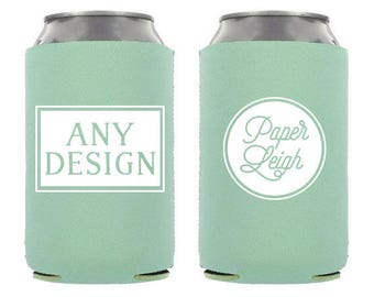 30 Can Coolers - Custom Wedding Favor - Neoprene Upgrade Can Cooler - 30 Neoprene Can Coolers