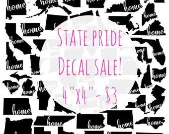 Home State Pride Vinyl Decal Sale