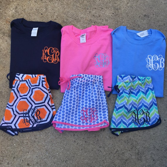 sale personalized monogram ladies pajama shorts by tootlebugs