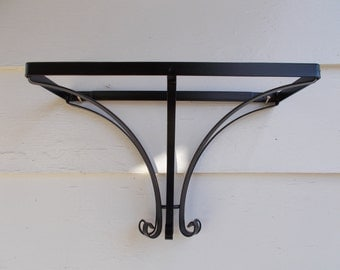 art nouveau wrought iron shelf bracket or pot and pan hook and hang square country kitchen