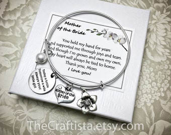 MBC, Mother of the Bride Adjustable Bangle, Mother of the Bride Personalized Bracelet, Mother of the Bride Gift, Mom of the Bride Keepsake