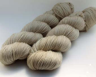 Hand Dyed Fingering/Sock Yarn, 75/25 Super Wash Merino/Nylon, knitting Yarn, Camel