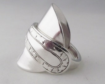 Beautifully Unusual Handmade Antique Sterling Silver Spoon Ring dated 1919 Jewellery Unique Gift