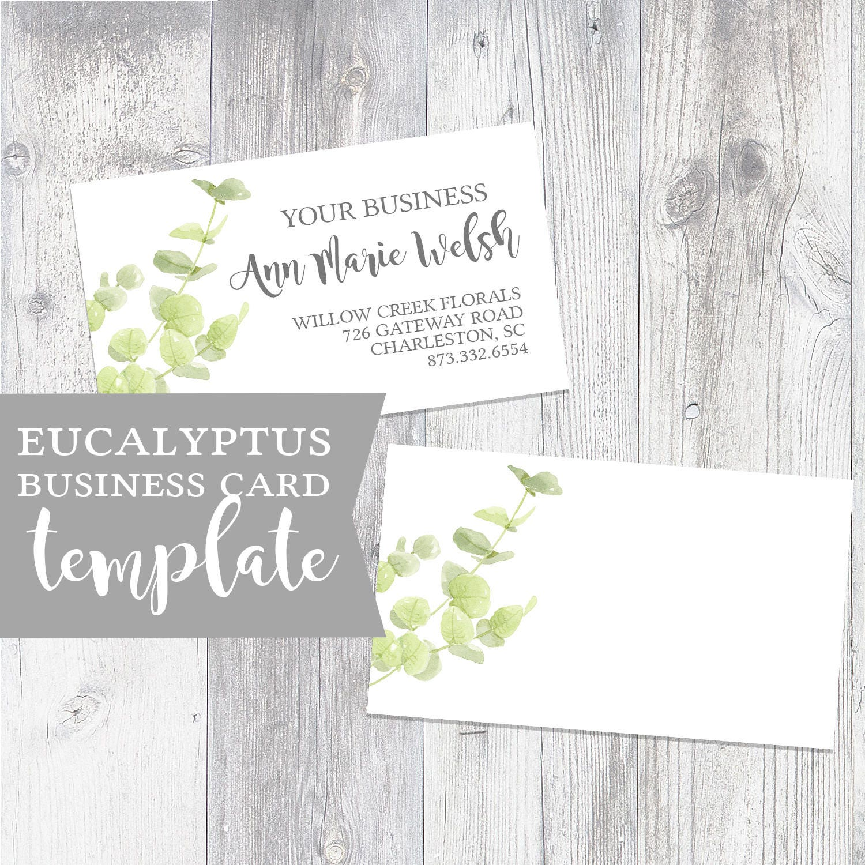 Eucalyptus Business Card Florist Business Card Mommy Calling