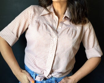 Vintage Gingham short sleeve button down