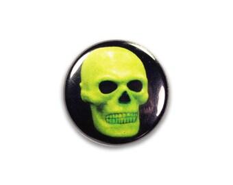 1 Inch Pinback Button Original - Aquarium Skull