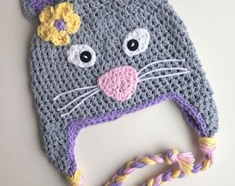 Cat hat, baby hat, kids hat,kitty hat, crochet cat hat, crochet kitty hat, crochet cat hat, girls kitten hat, girls hat, crochet baby hat
