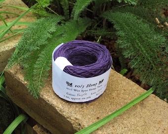 Purple 10/3 Hemp Yarn