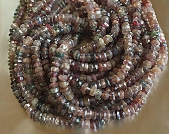 Multi Spinel Gemstone Rondelle Roundel Beads