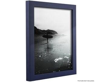 "Craig Frames, 8x10 Inch Navy Blue Picture Frame, .75"" Wide, Bauhaus (91600810)"