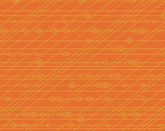 PRESALE - Diving Board - Latitude in Crab - Alison Glass for Andover - A-8639-O - 1/2 yd