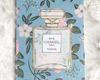 Floral Chanel Bottle Dashboard | Filofax Stationary
