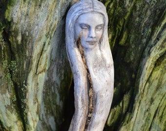 Reserved for Lynn, Dec. 2 of 3, Leo, Golden Crack Tear, Driftwood Talking Stick, by ShapingSpirit, Debra Bernier