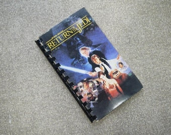 Handmade Star Wars Return of the Jedi 1983 Repurposed VHS Cover Notebook Journal