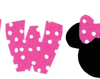Minnie Mouse iron on two applique DIY