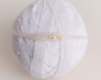 Dainty Tie Back neutral newborn ready to ship Photography Prop RTS