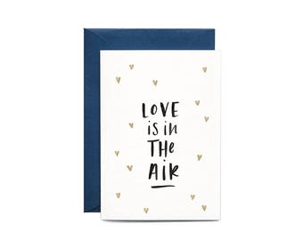 Love Is In The Air Illustrated Greeting Card