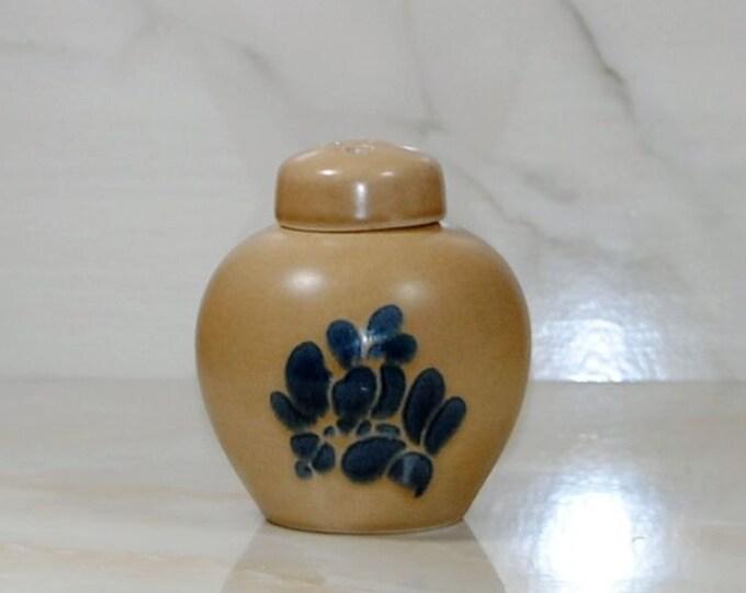 Vintage Pfaltzgraff FOLK ART Potpourri Jar With Lid, Ginger Jar,1980, Stoneware Jar, Incense Holder, Potpourri Holder, Ironstone, Scent Jar