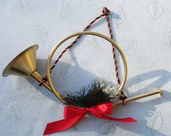 Decorative Brass Trumpet Holiday Decor