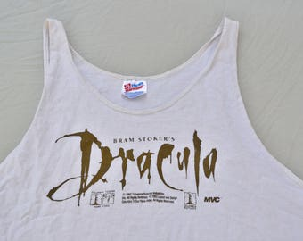 1992 Bram Stoker's Dracula Promo Tank Top Shirt Vintage XL T-Shirt Tee Shirt Goth Horror Movie Vampire Punk