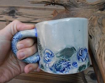 Ocean Floor Clay Mug