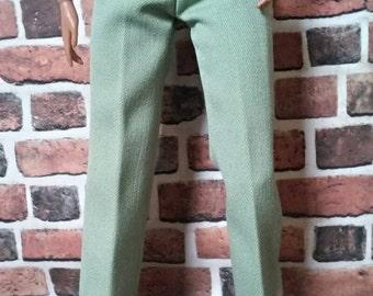 Wide Leg Trouser Pant w/ Detachable Belt for Barbie or similar size doll
