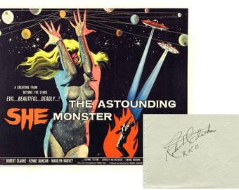 1940s ROBERT CLARKE Sci-Fi Hollywood B Movie Actor Signed Autograph Album Page Signature Science Fiction