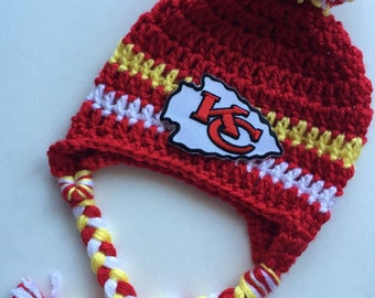 kansas chiefs hat handmade beanie made to order
