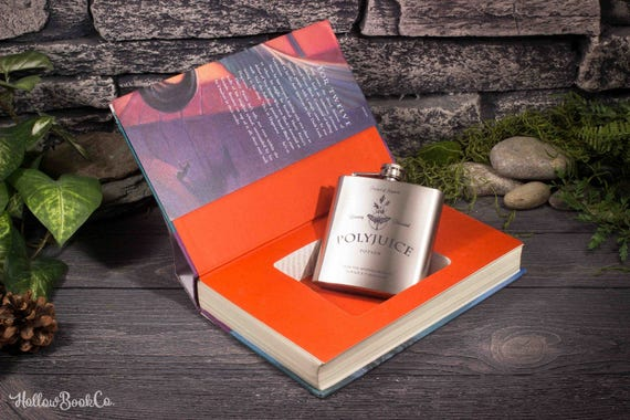 Hollow Book Safe & Polyjuice Hip Flask - Harry Potter and The Prisoner of Azkaban - Book 3 - J.K. Rowling