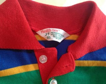 vintage striped collared shirt by healthtex size 1-2 years