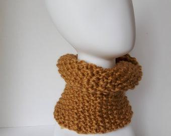 Hand Knit Chunky Cowl Scarf Chunky Neck Warmer Soft Warm Woolen-SALE